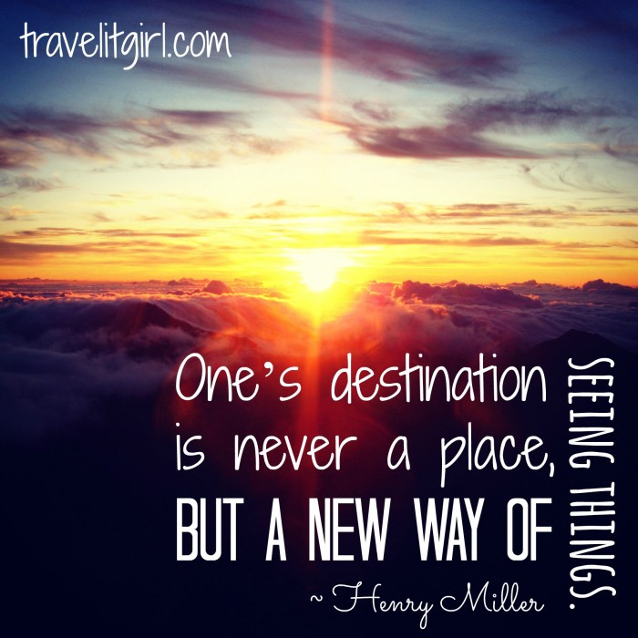 Inspirational Quote Sunrise: Travel It Girl