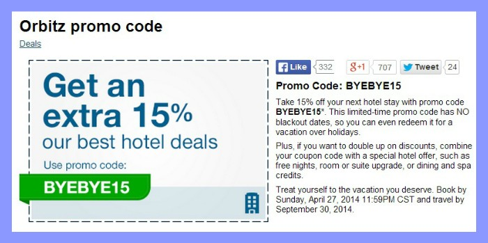 Travel coupon codes