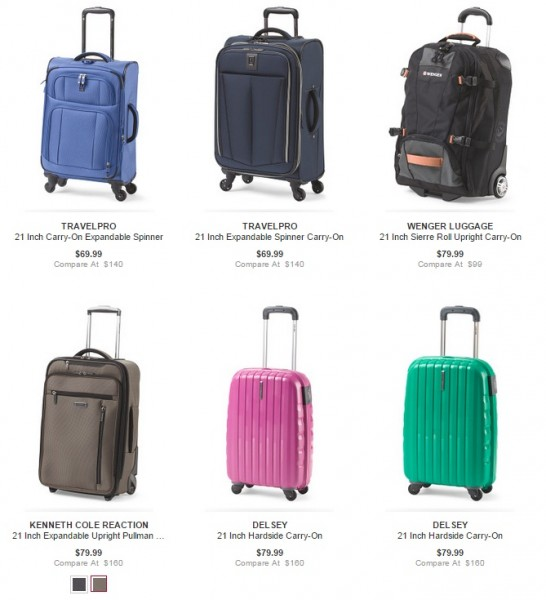 Tj maxx coupons luggage